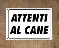 ATTENTI AL CANE 3 Targa cartello metallo Beware of dog sign metal