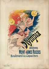 """CHERET JULES """"OLYMPIA"""" ANCIENNES MONTAGNES RUSSES 1892"""