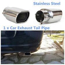 1x Straight Stainless Steel Car Exhaust Tails Silencer Tip Pipe End 63mm Silver