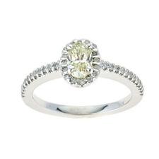 Anelli con diamanti ovale misura anello 7
