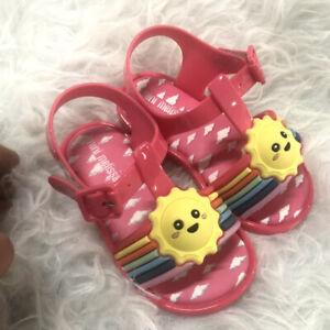 MINI MELISSA Rainbow Cloud Beach Shoes Sandals Toddler Girls Shoes US 7-11