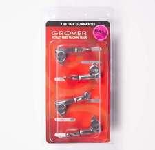 Grover 144C4 Mini Bass Guitar Tuners, 4 Inline Set - Chrome