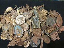 25 Religious Medal Pendant Crucifix Cross Lot #1 Our lady-Saint Random Selection