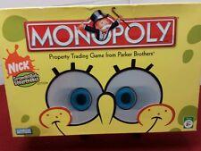 Monopoly Spongebob Squarepants Nick Parker Brothers Pinted Instructions