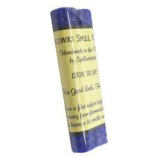"Two 4"" Handmade Dark Blue Beeswax Spell / Wish Candles - For Good Luck & Healing"
