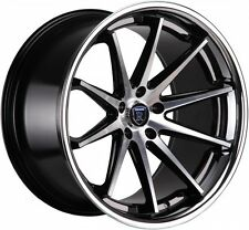 "20"" ROHANA RC10 STAGGERED WHEELS 5X112 BLACK MACHINE FITS MERCEDES BENZ SL55 AMG"