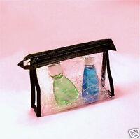 Clear Soft Vinyl Zipper Cosmetic Travel Case Bag Pouch