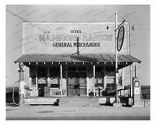 1930s era vintage photo-Hammond Ranch General Store-Gas pumps-Coca Cola-8x10in