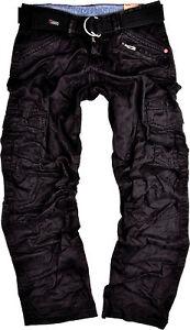 TIMEZONE Herren Cargo Hose Benito Schwarz Cargohose Outdoor 999 Herrenhose Jeans
