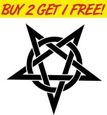 Celtic Pentagram Star Bumper Vinyl Window Sticker Car Funny Decal Abstract
