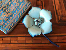 Rare! '60 Sky Blue Flower Brooch Spilla anni 60 Fiore Azzurro Vintage
