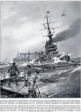 """Guerre peintre * était Artist * willy stöwer naufrage du """"Audacious"""" 1914"""