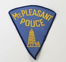 "Mount Pleasant Michigan Police Shoulder Patch 5""×4"" XL"