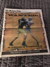 2001 MICHIGAN DAILY Football Saturday Program University of Michigan-Ohio State