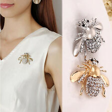 1x Women Brooch Pin Chic Rhinestone Animal Brooch Jewelry Cute Bee Brooches Pins