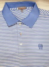 Peter Millar Summer Comfort Golf Polo Xl Baltimore County Club Logo Blue/White