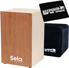 Sela SE001 Snare Cajon Bausatz + KEEPDRUM Tasche + Sitzpad