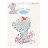 Me to You Easter Tatty Teddy Eating Chocolate Eggs Clear Stamp,