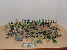 206 PC Lot Toy Soldiers Army Men Mixed Poses Plastic Tank Jeep Toy
