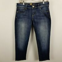Kut From The Kloth Angie Cropped Skinny Boyfriend Dark Wash Blue Jeans Size 4