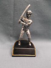 small male Baseball statue trophy resin award black base
