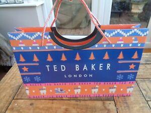 TED BAKER Christmas Jumper Medium Card Carrier Gift Bag  - 36cm x 23cm