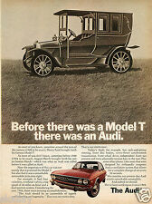 1972 Print Ad of Audi 100LS before there was a Ford Model T there was an Audi
