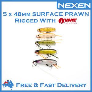 5 x NEXEN Hardbody Pencil Bream Bass Lure for Saltwater Freshwater as Daiw Zipba