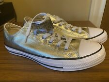 Converse Womens 9 Mens 7 Low Top Chuck Taylors Gold Metallic NEW
