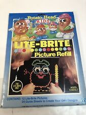 Vintage Lite Brite Mr. Potato Head picture refill, pre-owned 1986