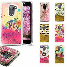 For T-Mobile Revvl Liquid Glitter Quicksand Hard Case Phone Cover Accessory