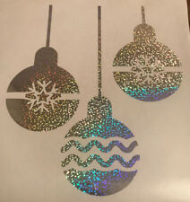 VINYL CHRISTMAS BAUBLE WINDOW DECORATIONS DECAL ANY COLOURS