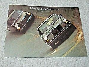 1970's MERCEDES-BENZ 200 SERIES SALES BROCHURE