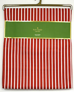 Kate Spade New York Table Runner Cranberry Harbour Drive Striped red White NIP