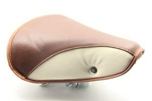 Bike Bicycle Saddle Seat Comfort Cruiser Vintage Style Brown Light Grey