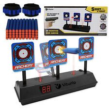 43pc Kit Electronic Target for Nerf N-Strike Guns, 40 Bullet Darts 2 Wristbands