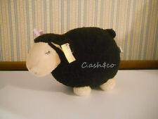 "Lamb sheep 11"" pillow toy black & cream color plush stuffed animal           ZA"