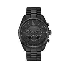 Caravelle Men's 45B150 Quartz Black Chronograph Bracelet 44mm Watch