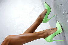 1969 Pumps 14 cm Sexy green grün fetish sky high heels 40 41 nib