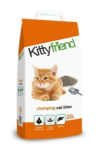 Kittyfriend Clumping Cat Litter Highly Absorbent And Odour Control, 20 Litre