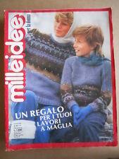 MILLEIDEE n°11 1981 - rivista di moda e lavori femminili  [G582]