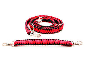 """Firefighter EMS Police  Paracord Radio Strap Sling 60"""" w/ 13"""" Stabilzer Red"""