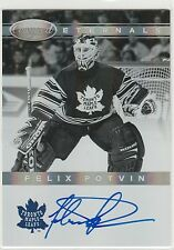 2011-12 Certified Eternals Autographs #11 Felix Potvin 83/100 on-card autograph