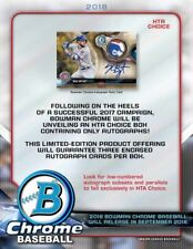 2018 Bowman Chrome baseball sealed 12-box HTA CHOICE CASE Ohtani? Acuna?