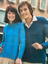 FU19 - Knitting Pattern - Unisex Mens & Lady's Jumper - His & Hers