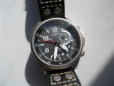 Fossil Hombres Cronógrafo Cuero Negro, cuarzo, Pila & ANALOGICO watch.fs-5042