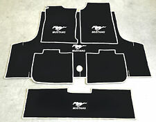Autoteppich Fußmatten Kofferraum Set für Ford Mustang Cabrio weiss 71-73