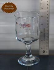 Pfaltzgraff TROUSSEAU Juice Pedestal Glass 8 Ounce 5.5 Inch Tall MINT!