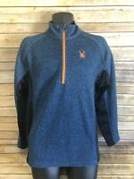 Spyder Mens 1/2 Zip Pullover Sweater Size Medium Blue Long Sleeve Top Casual top