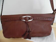 Brighton Small Brown Pebbled Leather Shoulder Bag, Excellent Condition